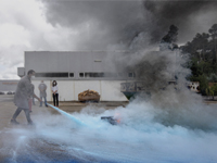 INDELAGUE Group provides a training course on fire prevention and fire fighting.